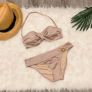 VS 2 piece bikini with gold hardware